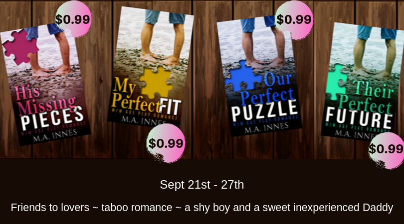 Pieces Series Sale - MA Innes - Gay Romance Age Play Ebooks
